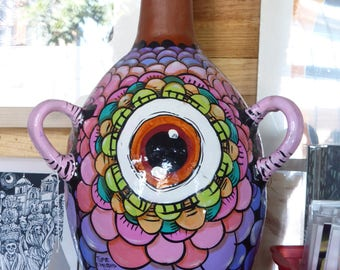 vase hand painted