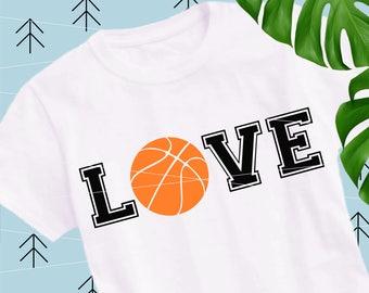 Basketball love svg Basketball svg Ball Svg Sports svg Fan svg Team svg Cricut cut files Silhouette cutting file lfvs