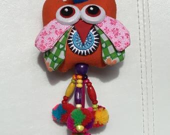 Cute owl bird colorful keychain,handbag accessory.