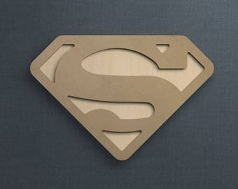 Frame Kit, Superman Logo, Wood Frame, Picture Frame, DIY