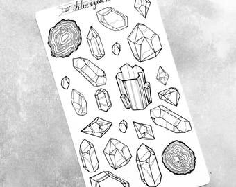Crystal and Geode Stickers