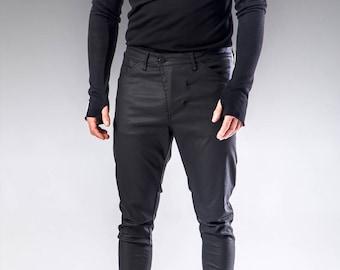 Steampunk Pants, Mens Black Pants, Slim Fit Pants, Mens Maxi Pants, Mens Black Trousers, Mens Fashion Clothing, Slim Trousers, Cotton Pants