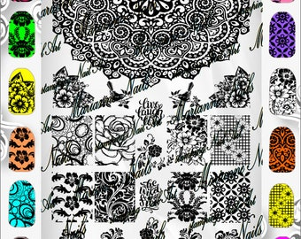 Nail art stamping plaque Marianne ongles 11