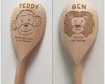 Personalised wooden spoons