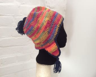 Tassle hat with earflaps