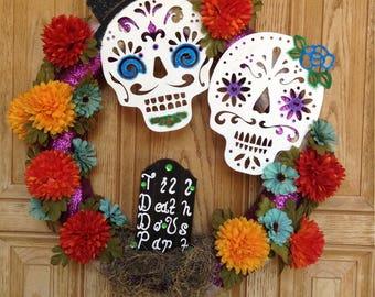 Dia de los Muertos Wedding Wreath