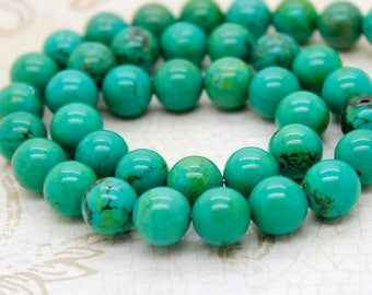 Tibet Turquoise Round Gemstone Beads (4mm, 6mm, 8mm, 10mm, 12mm, 14mm)