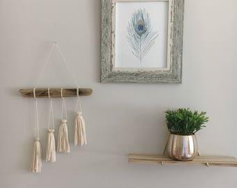 Tassel Wall Hangin / Boho Wall Hanging / Modern Macrame