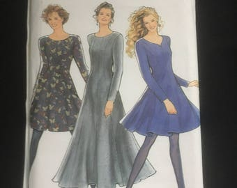 Vintage Sewing Pattern 1990s Fit and Flare Dress