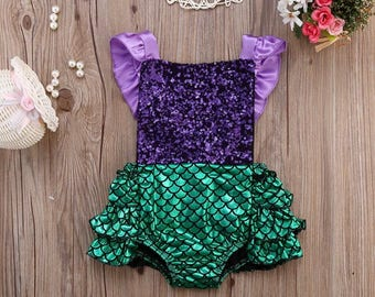 Ruffled Mermaid Romper