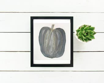 Pumpkin Wall Art Original Pumpkin Watercolor Pumpkin Wall Decor Autumn Decor Fall decor Halloween Home Decor Fall Home Pumpkin Gold Foil
