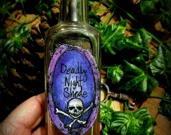 Bottle  Vintage Halloween Decoration Deadly Night Shade Poison Bottle