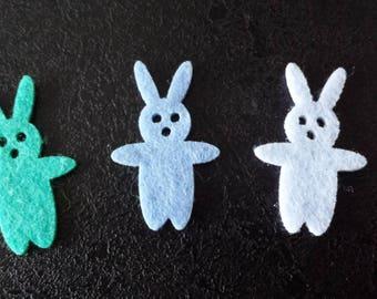 bunnies in felt