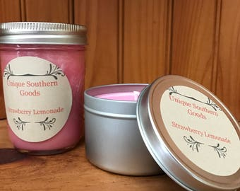 8oz Strawberry Lemonade soy candle