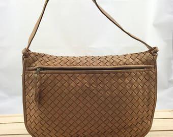 BOTTEGA VENETA Signature Woven Leather Shoulder Bag Crossbody Bag