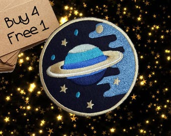 Planet Patches Space Patches Iron On Patch Applique Patches For Jackets