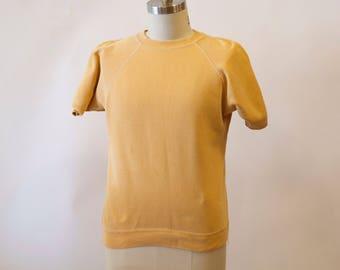 Peach short sleeve sweater tee