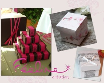 Box dragees paper to hold sweets customize wedding christening
