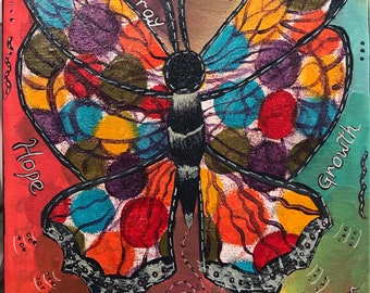 Layers of Love -- Butterfly, Inspiration in warm colors.