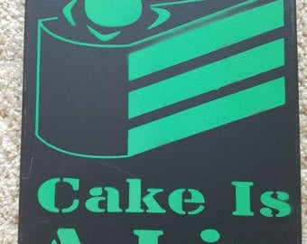 Cake is a Lie Portal Canvas