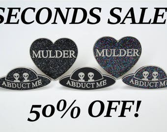 SECONDS SALE PINS
