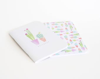 Cacti Notebook Set Purple A5