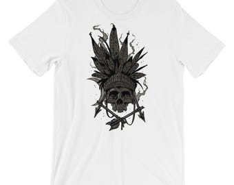 Indian Chief Skull Short-Sleeve Unisex T-Shirt