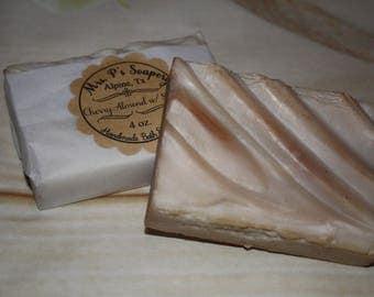 Cherry Almond With Shea Handmade White Soap