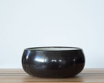 Ceramic Fruit Bowl  [ Ceramic Bowl, Salad Bowl, Serveware Bowl, Black and White Bowl, Tableware ]
