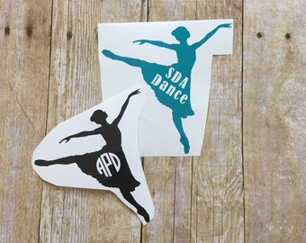Custom Ballerina Decal, Dance Studio Car Decal, Dancer Car Decal, Dance Mom Decal, Ballet Car Decal, Water Bottle Decal, Wall Decal, Laptop