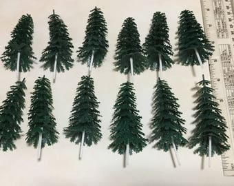 "Set of 12 Evergreen Tree cupcake picks, 4"" in size Cupcake Toppers"