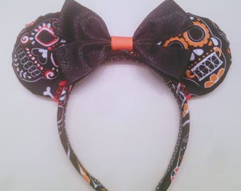 Sugar Skull Minnie Ears, Coco Minnie Ears, Custom Minnie Ears