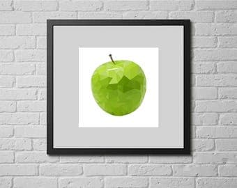 Green apple (cross stitch pattern)