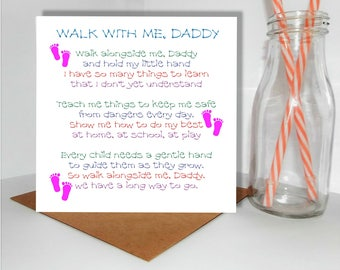 Fathers Day Card, Dad, Daddy, Poem, First Fathers Day, Handmade