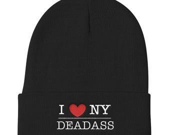 I Heart NY Deadass NYC New York Knit Beanie