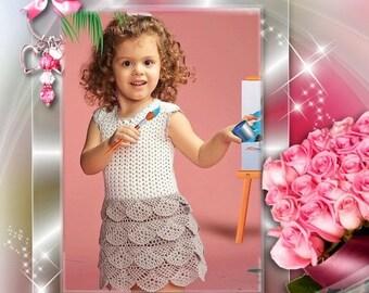 Pattern tutorial pattern crochet pattern chic and elegant dress for girl