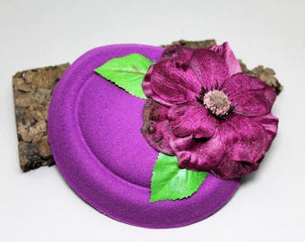 "Hat/Headpiece/fascination ""Puple lady"""
