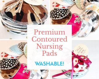 Set of 5 (10 pads) | Premium Contoured Nursing Pads | Breast Pads | Breastfeeding | Newborn | Shower Gift | Cotton | New Mom
