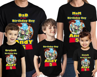 Toy Story Birthday Shirt Customized Name and Age Personalized Birthday Toy Story Shirt Party Favors