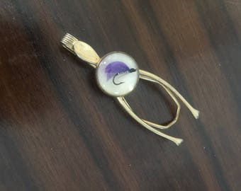 Vintage Tie Clip - Fly Fishing