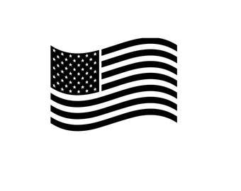 United States of American Flag America wavy