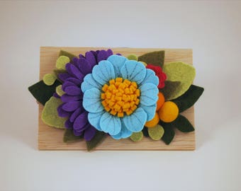 Felt Flowering Headband - nylon headband