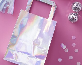 Iridescent Party Bags, Iridescent Themed Party Bags, Iridescent Favour Bags, Iridescent Gift Bags, Birthday Party Bags, 5 Pack
