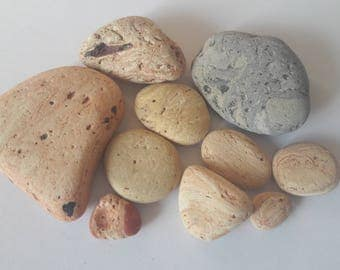 10 pebbles French / french stones