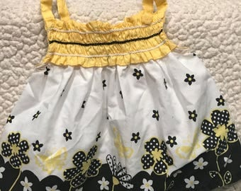 Yellow Puppy Sundress for Puppies (Size 1P)