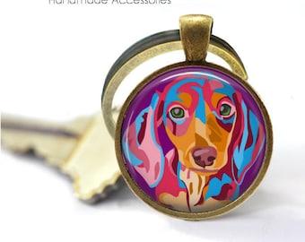 Dachshund Key Ring • Dachshund Pop Art • Pet Dog Gift • Pet Accessories • Pop Art • Gift Under 20 • Made in Australia (K384)