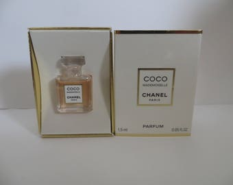 Chanel Coco Mademoiselle Pure Parfum Splash 1,5ml rare discontinued