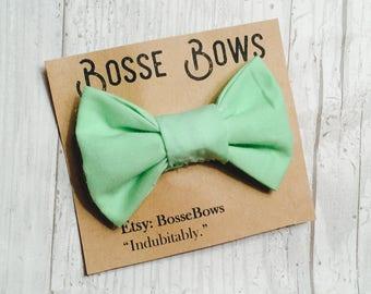 Baby bow tie, Toddler bow tie, mint green bow tie, bow tie onesie, clop on bow tie, infant bow tie, baby boy bow tie, kids bow tie, boy