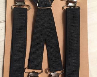 Baby suspenders, Toddler suspenders, kids suspenders, adjustable suspenders, wedding, ring bearer, baby boy, baby bow tie, black suspenders