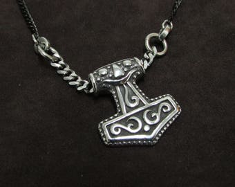 Small and Rugged Thor's Hammer Necklace